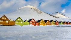 Photo about Colorful houses in the Longyearbyen settlement on the island of Spitsbergen, Svalbard, Norway. Image of arctic, contrast, adventure - 79981599 Longyearbyen, Places To Travel, Places To Visit, Svalbard Norway, Pitch Dark, Fear Of Flying, Mysterious Places, Arctic Circle, Travel Abroad