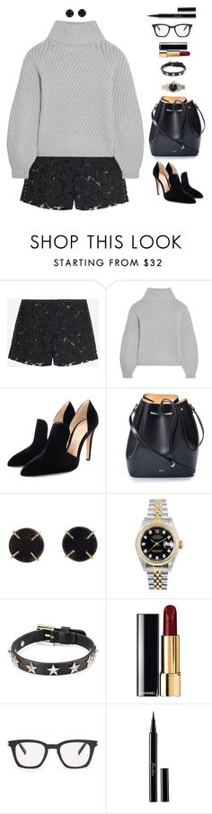 """""""Because she have opinions and people don't like that"""" by xoxomuty on Polyvore featuring Valentino, Iris & Ink, Gianvito Rossi, N°21, Melissa Joy Manning, Rolex, RED Valentino, Chanel, Yves Saint Laurent and Guerlain"""
