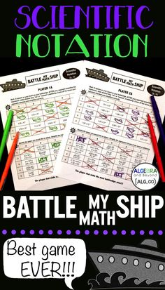 My students can't get enough of this game! Practicing scientific notation has never been more fun! Some skill and a lot of luck will win the game. Teacher Hacks, Math Teacher, Math Classroom, Classroom Decor, Teacher Stuff, Teaching Science, Science Education, Physical Science, Teaching Ideas