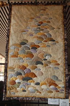 artfully quilted rocks- a beach scene would be cool done like this. Art Textile, Textile Artists, Quilting Projects, Quilting Designs, Landscape Art Quilts, Landscapes, Textiles, Quilted Wall Hangings, Applique Quilts