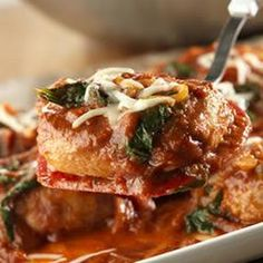Skillet Pork Chops Florentine