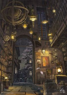 The patio の Star night の Sakurai (天井の星、夜の桜) by K,Kanehira. So magical..