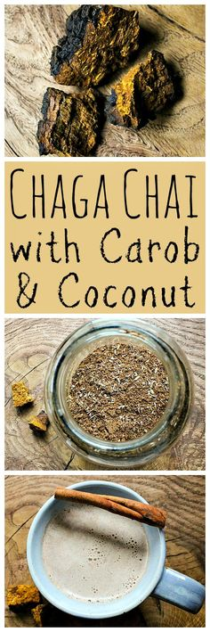 Chaga fungus is amazing for your health. Make this tasty chaga chai blend with carob and coconut!