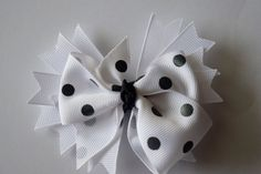 Girls Hair Bow Handmade Stacked Boutique by RachelsHairBowtique