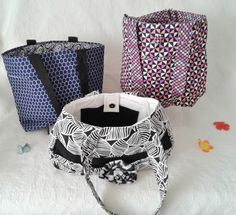 SALE Shoulder bags with pockets, project bag, tote bag with inside pockets