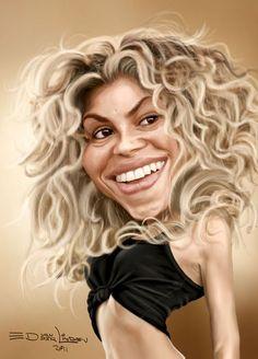 Shakira by edvanderlinden.deviantart.com: