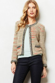75c4f89ea9d0 NWT - ANTHROPOLOGIE - TRACY REESE - Moche Jacket - size S (Taupe Motif)