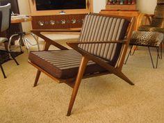 Vintage Selig Z Chair Mid Century Danish Modern Walnut Made in Denmark #Selig
