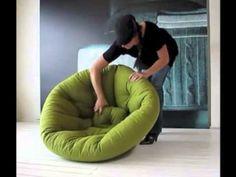 NEST, Fauteuil le jour, futon la nuit : douillet, pratique, et confortable - deco et design