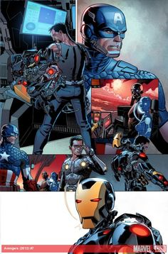 Earth's Mightiest Heroes spring into action in these preview pages for Avengers #7 by Dustin Weaver!    http://marvel.com/news/story/20152/sneak_peek_avengers_7