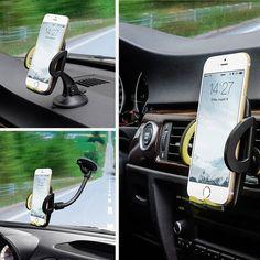 Omaker 3-in-1 Mobile Phone Car Mount Holder $8.99 (amazon.com)