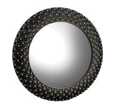 Rhinestone Wall Mirror antique silver framed round convex fish eye wall mirror 30 in