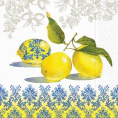 Lemons PAPER LUNCH NAPKINS New Package Lunch by PaperNapkinsShop