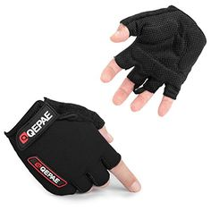 New Black Cycling Gloves Boys Girls Ladies Mens Bicycle Bike Cycle Size L Large