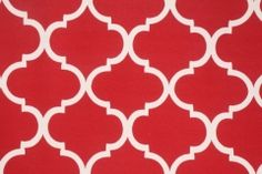 Richloom Landview Printed Poly Outdoor Fabric in Cherry $4.95 per yard
