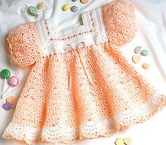 Leisure Arts - Peach Sherbet Baby Dress Crochet Pattern ePattern, $4.99 (http://www.leisurearts.com/products/peach-sherbet-baby-dress-crochet-pattern-digital-download.html)