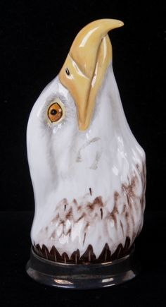 An Eagle Head Stirrup Cup by Royale Stratford