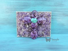 Amethyst Belt Buckle Turquoise Belt Buckle by tammydeedesigns