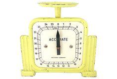 Yellow Tin Art Deco Scale on OneKingsLane.com