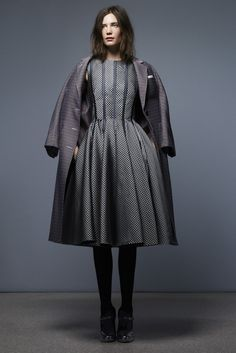 A silhouette to be reckoned with.    (Pre-Fall 2013 Trend: Rock the Coat - Slideshow - WWD.com)