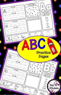 Great for Back to School Assessments! These alphabet printables are perfect to reinforce your students' letter recognition, phonics, and handwriting. Alphabet Phonics, Teaching The Alphabet, Teaching Phonics, Preschool Letters, Teaching Resources, Alphabet Blocks, Teaching Ideas, Kindergarten Reading, Preschool Kindergarten