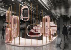 Standing Signage, Showroom Design, Exhibit Design, Architecture Concept Diagram, Perfume Display, Concept Shop, Exhibition Stall, Clinic Design, Retail Store Design
