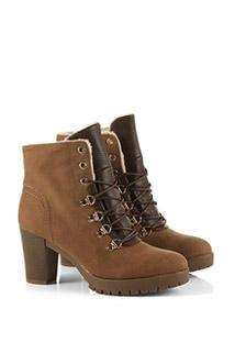 warm gefütterte Hiker Boots im Material-Mix - Women > Schuhe > Stiefeletten -