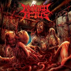 """The art of Daemorph ABORTED FETUS """"Goresoaked Clinical Accidet"""" (re-issue)"""
