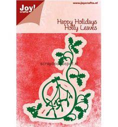 Joy Cutting & Embossing stencil Kerst swirl