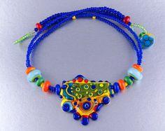 Cheeky Owl Lampwork Jewelry by Michou P. van MichouJewelry op Etsy