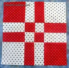 Disappearing Four Patch Quilt Block Large