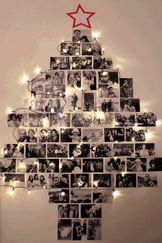 58 ideas for diy christmas tree decorating ideas navidad Wall Christmas Tree, Unique Christmas Trees, Alternative Christmas Tree, Noel Christmas, Christmas Crafts, Christmas Ornaments, Christmas Tree With Lights, Christmas Tree Ideas 2018, Xmas Trees