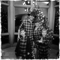 Pin for Later: Britney Spears's Sweet Family Snaps Will Make You Love Her Even More  Britney, Charlie, Sean, and Jayden all wore matching pajamas for their Christmas 2014 celebration.