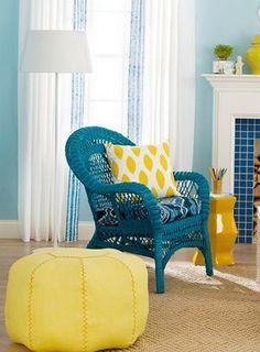 Beautiful ottomans in the interior | Home Interior Design, Kitchen and Bathroom Designs, Architecture and Decorating Ideas