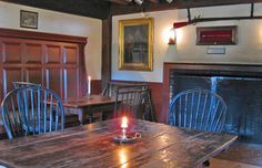 The Wayside Inn's Old Bar room represents the oldest room in the Inn. Originally the first floor chamber of David Howe's 1707 two-room homestead, this room eventually became his tavern in 1716, and is still in use today.