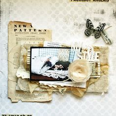 my style by chelseavn, via Flickr. I love the layers of old paper and burlap.