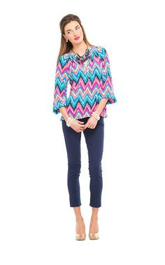 Lilly Pulitzer Fall '13- Elsa Top in Multi Hearts a Flutter