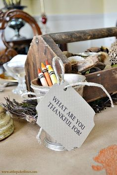 A collection of great Thanksgiving printables to use in your home and as part of the table setting!