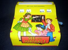Wolverine Child's See and Subtract Tin Math Toy