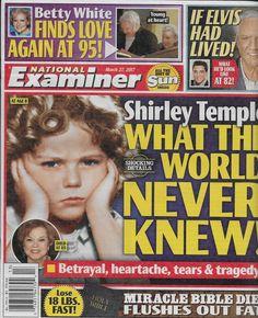 National Examiner magazine Shirley Temple Betty White Elvis Debbie Reynolds