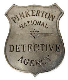 old badge   Premium Old West Badge - Pinkerton Detective (8460)