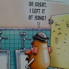 a day in the life of Mr. Potato Head