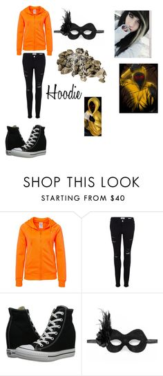 """Creepypasta #2~ Hoodie"" by tdrix123451 ❤ liked on Polyvore featuring Under Armour, Frame, Converse and Masquerade"