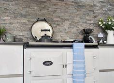 Modern Grey Kitchen with White Range Cooker