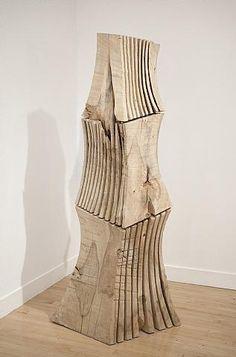 David Nash (British, b.1945).  Rip Cut Column. ◢▇◣◥▇▇◤◢▇◣