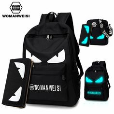 Promotion price 2017 Fashion Brand Women Male Anime Schoolbag For Teenage Girls Boy Popular Computer Laptop Backpack Female Men Luminous Bagpack just only $24.37 - 36.44 with free shipping worldwide  #backpacksformen Plese click on picture to see our special price for you