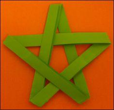 Etoile de noel fabriquer une toile de no l en papier toile 5 branches d coupage pliage - Pliage serviette etoile 5 branches ...
