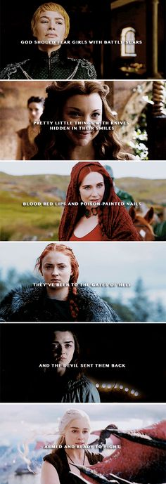 — God is so obviously a man, so the Devil protects her sisters - c.k #asoiaf