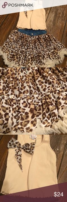 Oopsy Daisy Matching Set Matching leopard print skirt and tank top oopsy daisy Matching Sets
