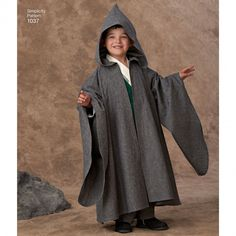 Simplicity 1037 Boys' Easy To Sew Costumes - possible pattern for HP robes